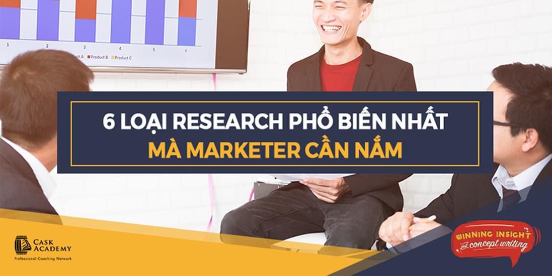 6 Loại Research Phổ Biến Nhất Mà Người Làm Marketing Cần Nắm